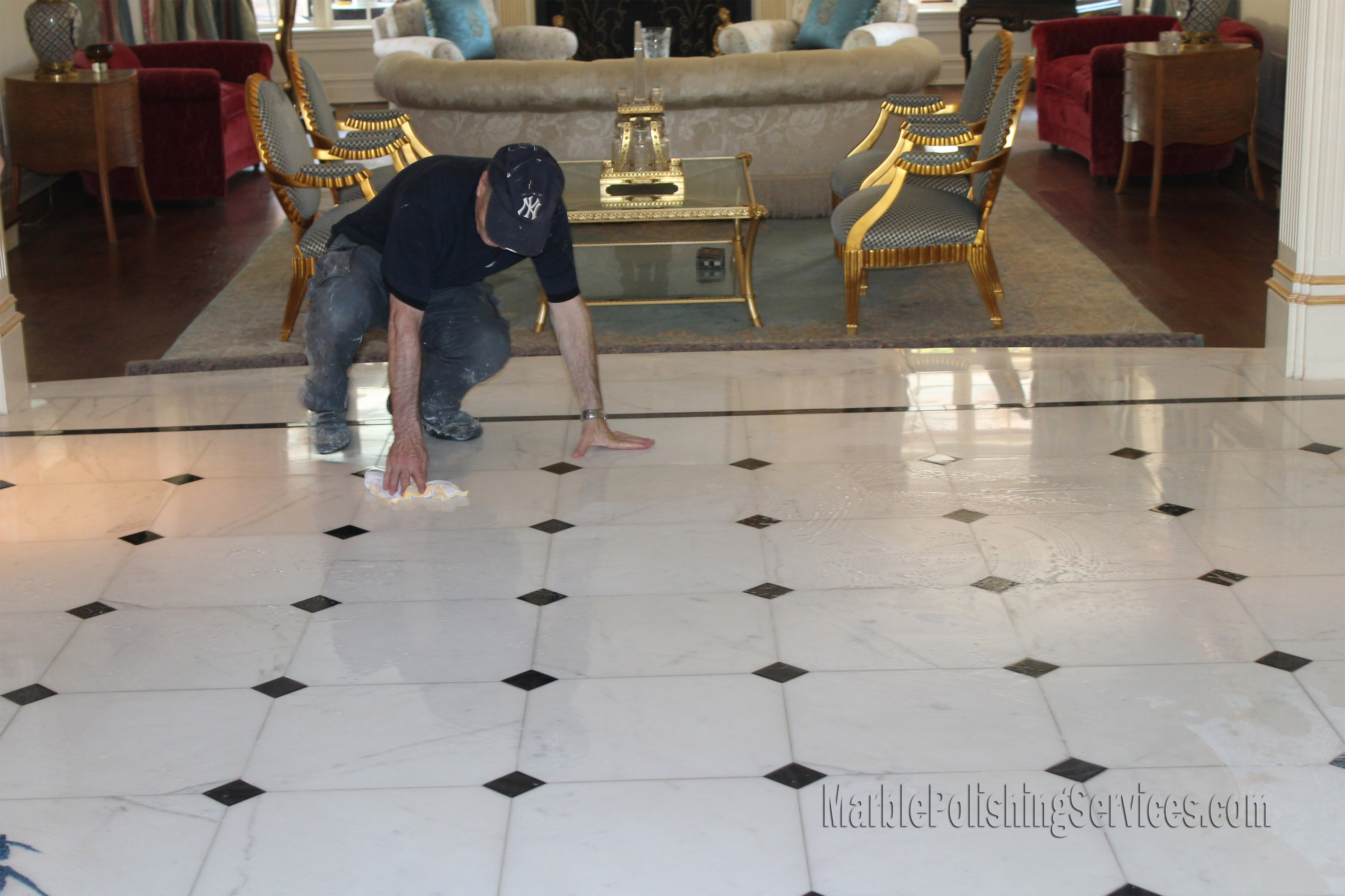 How to polish tile floor