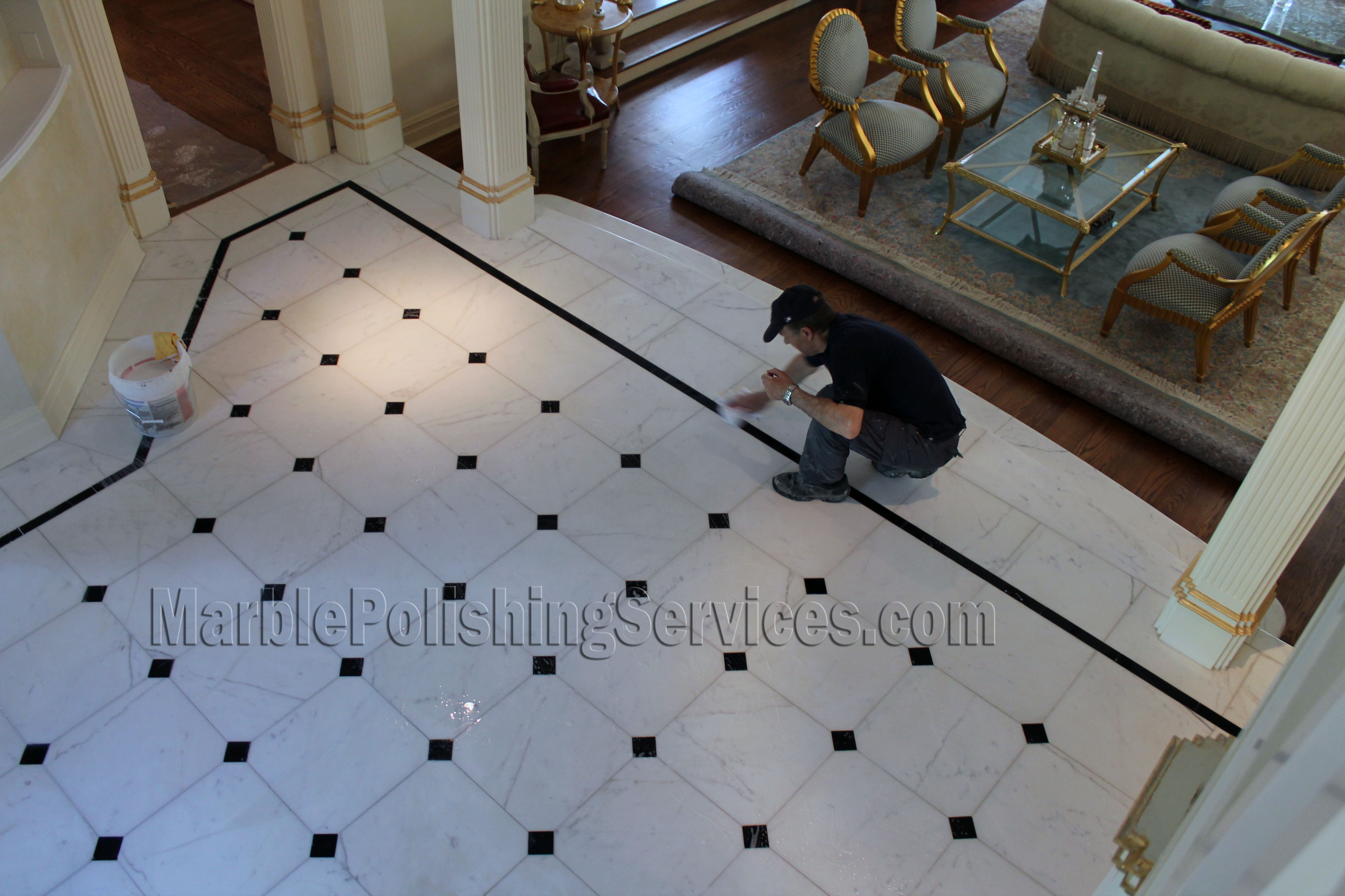 Marble Floor Cleaning, Polishing and Sealing in the Hamptons NY