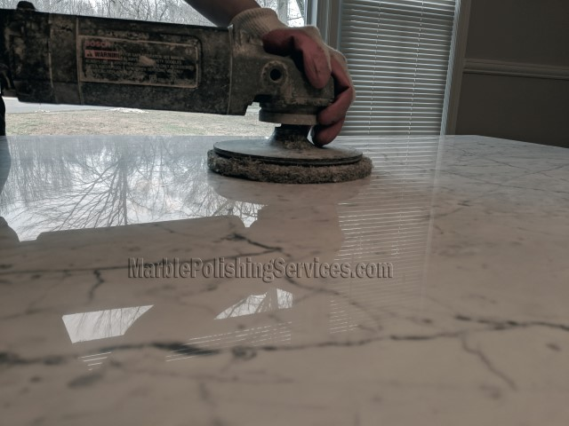 Marble Countertop Polishing and Cleaning