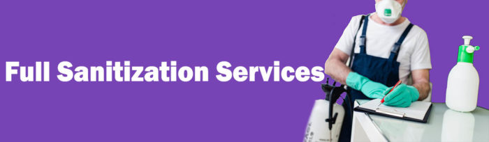 Full sanitization services